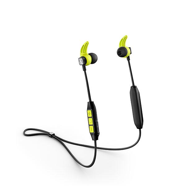 in-ear bluetooth sport koptelefoon zwart-lime