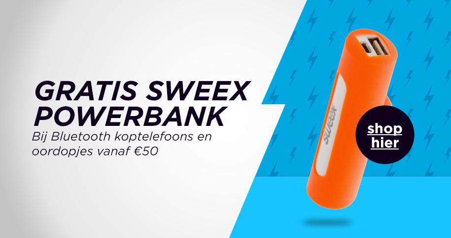 Gratis Sweex powerbank